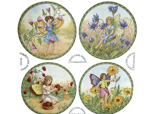 Floral Garden Flower Fairies with Background 70329A