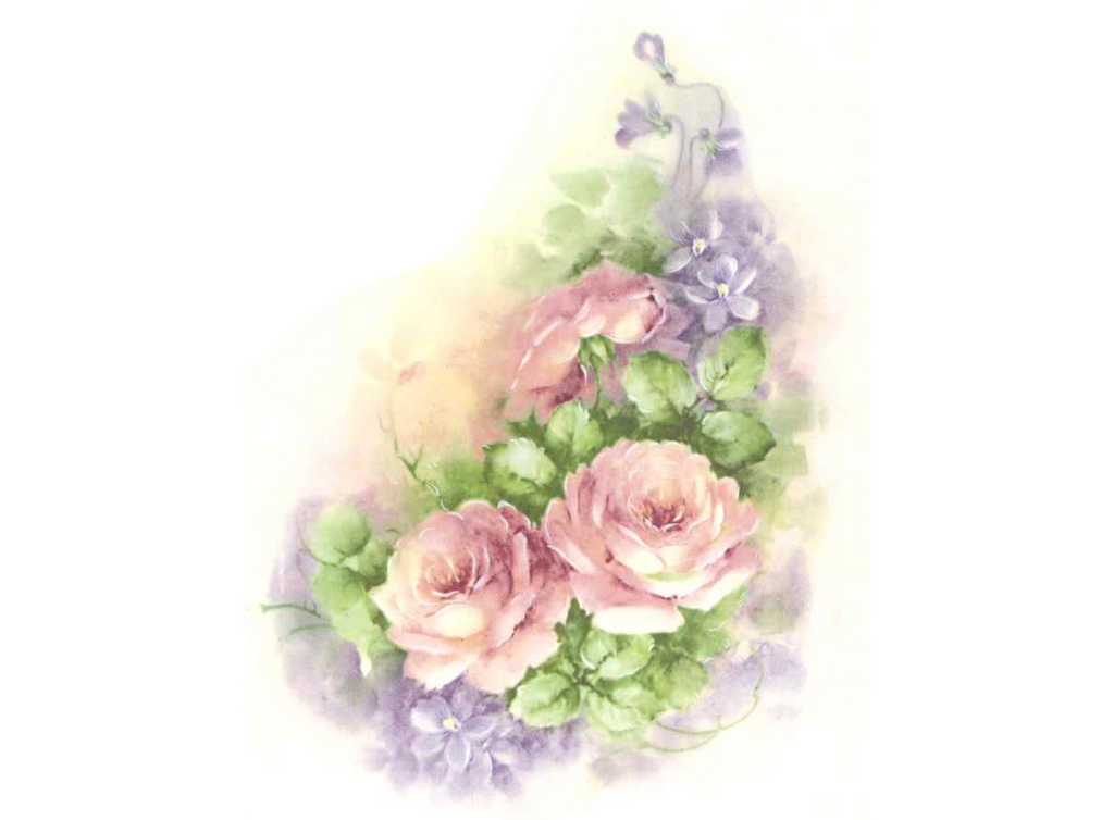 Pink Rose Purple Lilac Flowers Item # 14055 Ceramic Decals