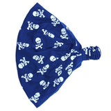 Kids Pirate Skull Crossbones Bandana Blue