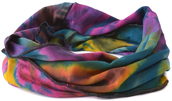 Hippie Tye Dye Hair wrap neck gaiter