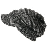 slouchy beanie knit hat for winter black