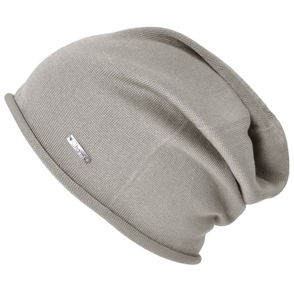 Casualbox Japan 100% Silk Beanie Watch Cap Hat Ladies Womens Women Mens Men Unisex Gender Neutral Beige