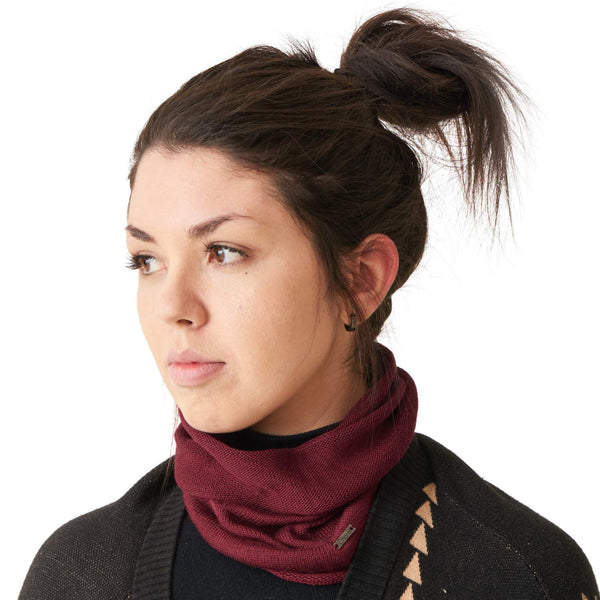 genuine mulberry silk neck gaiter ear warmer headband for men women burgundy