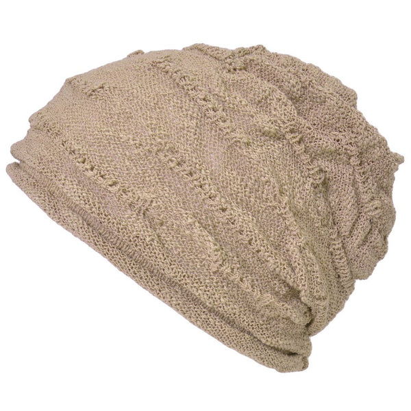 Casualbox Japan 100% Cotton Beanie Watch Cap Hat Ladies Womens Women Mens Men Unisex Beige