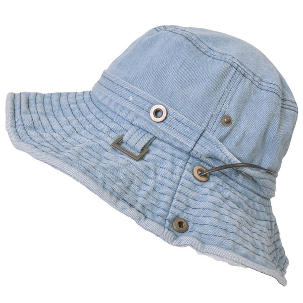 denim safari adventure summer bucket hat