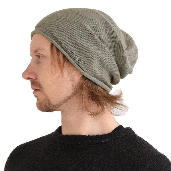 100% Organic Cotton Stretchy Beanie Light Gray