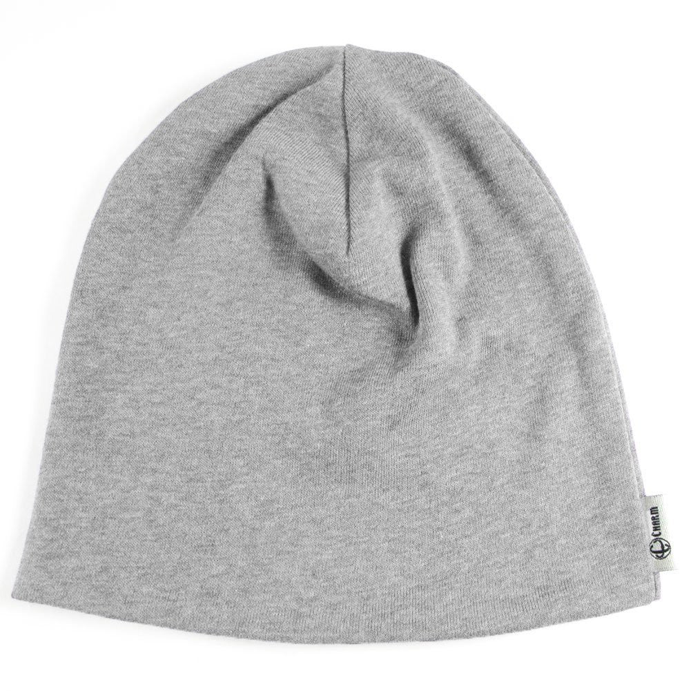 Slouchy 100% Organic Beanie for Kids Children Girls Boys Unisex Breathable Winter Autumn Grey Gray