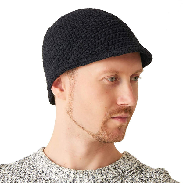 Kufi Hat Skull Cap for Men 100% Cotton Black