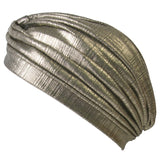 Metallic Turban Hat Gold