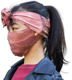 CHARM Ninja Headband Sweatband Mask Orange