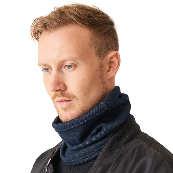 Neck Gaiter Neckwarmer Ear Earmer Navy