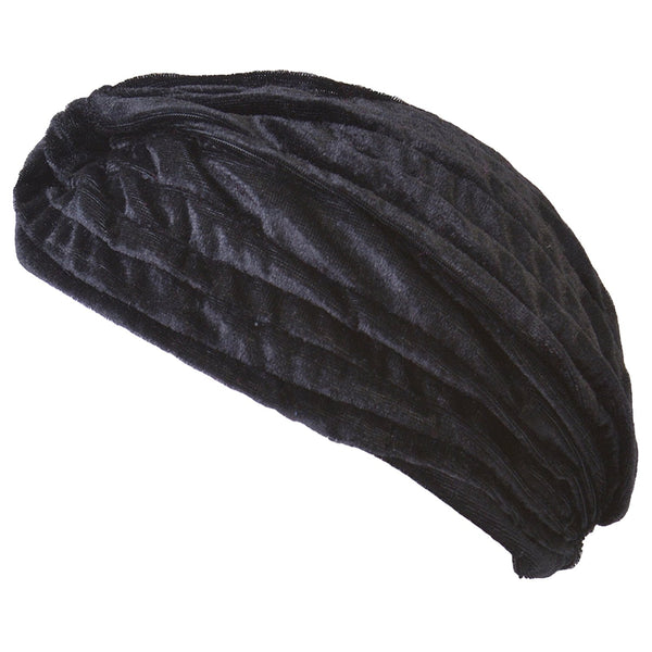 Black Velvet Turban Hat