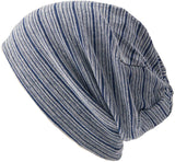 Organic Cotton Striped Beanie Two Sizes