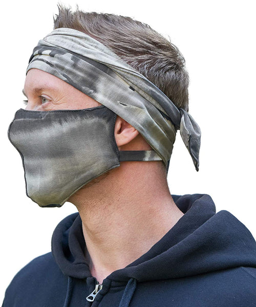 CHARM Ninja Headband Sweatband Mask Black