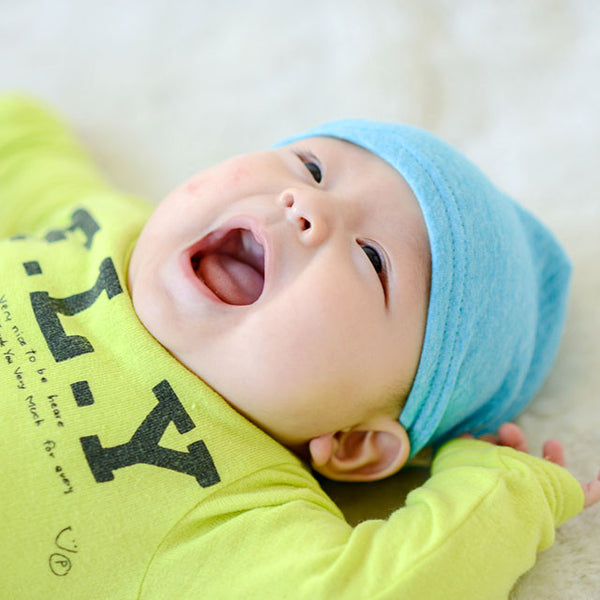 Blue Baby Beanie Organic Cotton