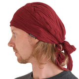 Dark Brown Pirate Crumpled Bandana