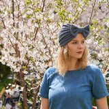 fashion turban with a bow