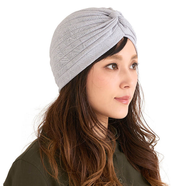 Fashion Turban in Gray