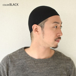Casualbox Japan 100% Silk Skullcap Kufi Skull Cap Islam Muslim Islamic Prayer Hat Black