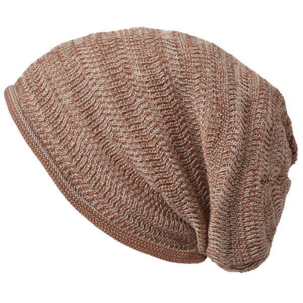 Casualbox Japan Beanie Watchcap Slouchy Slouch Baggy Loose Made in Japan Mens Womens Men's Women's Ladies Lady Unisex Gender Neutral Anti-odor Mix Light Brown