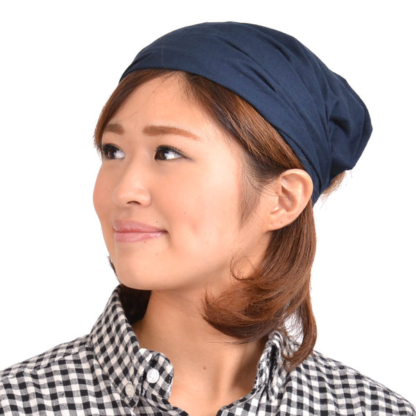 100% Cotton Navy Bandana Korean Fashion