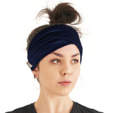 Velvet Cotton Boho Double Wrap Headband