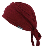 Burgundy Pirate Crumpled Bandana