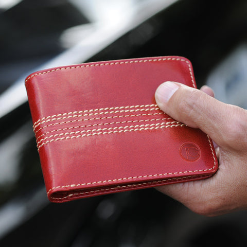 Mens slim leather wallet mens gift ideas
