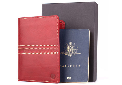 mens passport wallet cover leather cricket gift ideas for men