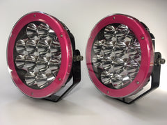 "ZDS-9XZM - Pair ""ZOMBINA MUSK"" 9"" Round LED Driving Lights - includes FREE Harness & Shipping"