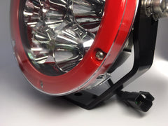 "ZDS-7XIR - Pair ""ZOMBIE INFERNO RED"" 7"" Round LED Driving Lights - includes FREE Harness & Shipping"