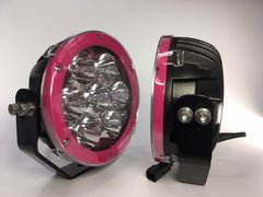 "ZDS-7XZM - Pair 'ZOMBINA MUSK"" 7"" Round LED Driving Lights - includes FREE Harness & Shipping"
