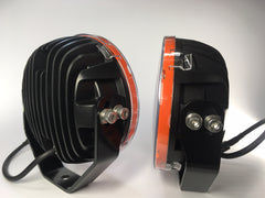 "ZDS-7XSO- Pair ""ZOMBIE SINNER ORANGE"" 7"" Round LED Driving Lights - includes FREE Harness & Shipping"