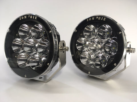 "ZDS-7X - PAIR 7"" Round LED Driving Lights - includes FREE Harness and Shipping"