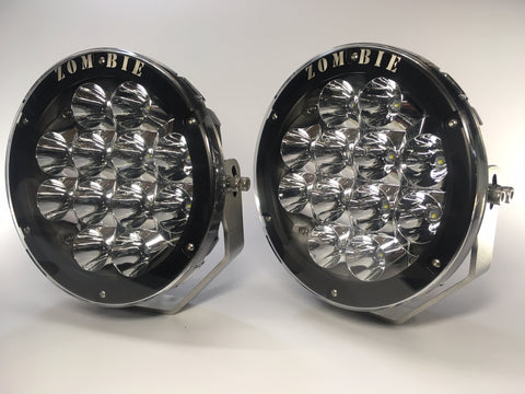 "ZDS-9X - PAIR 9"" Round LED Driving Lights - includes FREE Harness and Shipping"