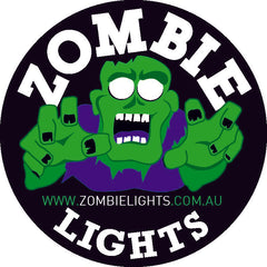 "ZDS-7XMB - Pair ""ZOMBIE MIDNIGHT BLACK"" 7"" Round LED Driving Lights - includes FREE Harness & Shipping"