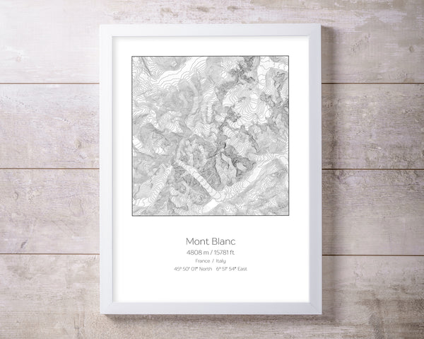 Mountain Elevation Prints