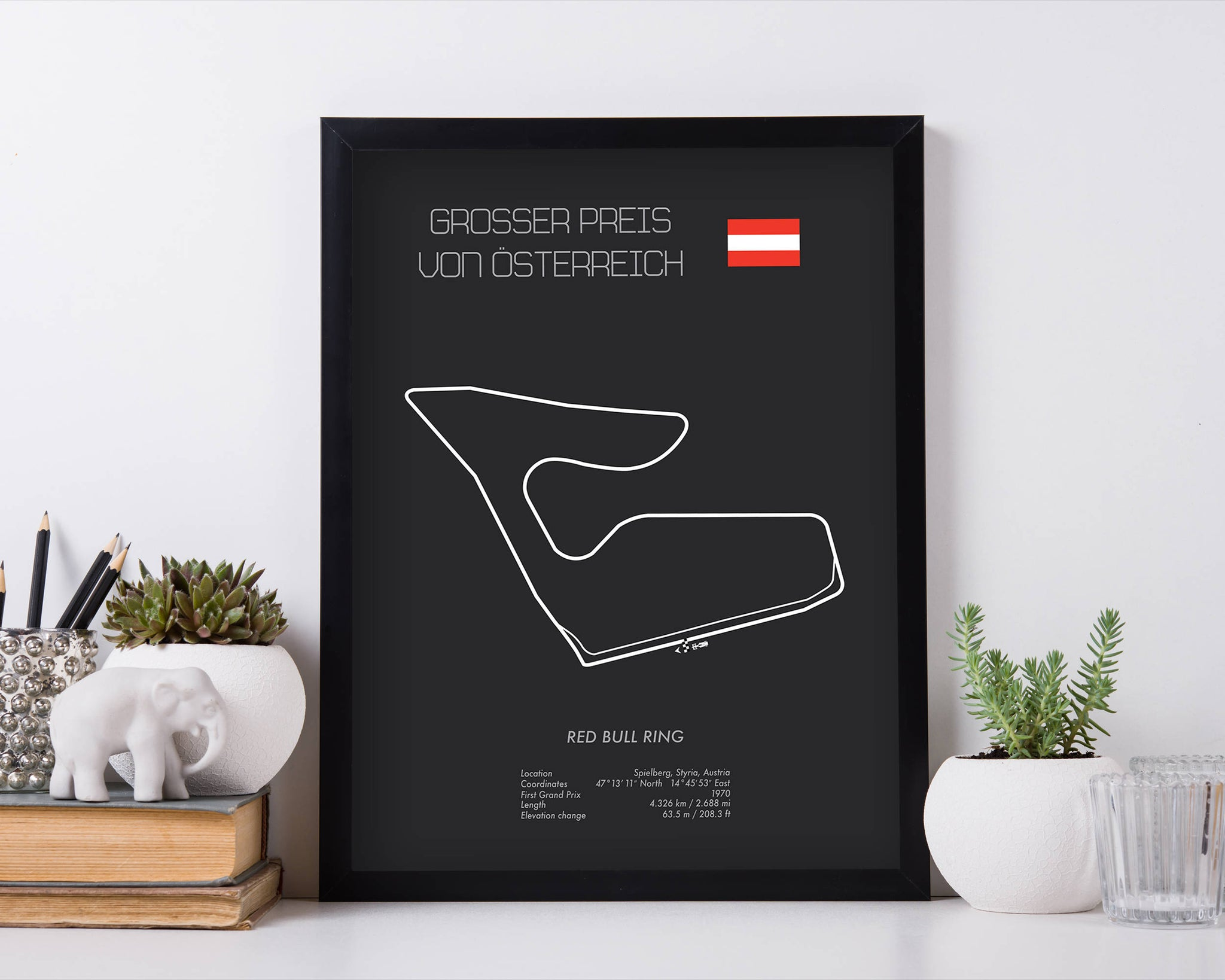 Formula One Austria Grand Prix Red Bull Ring Racing Map Wall Art Print