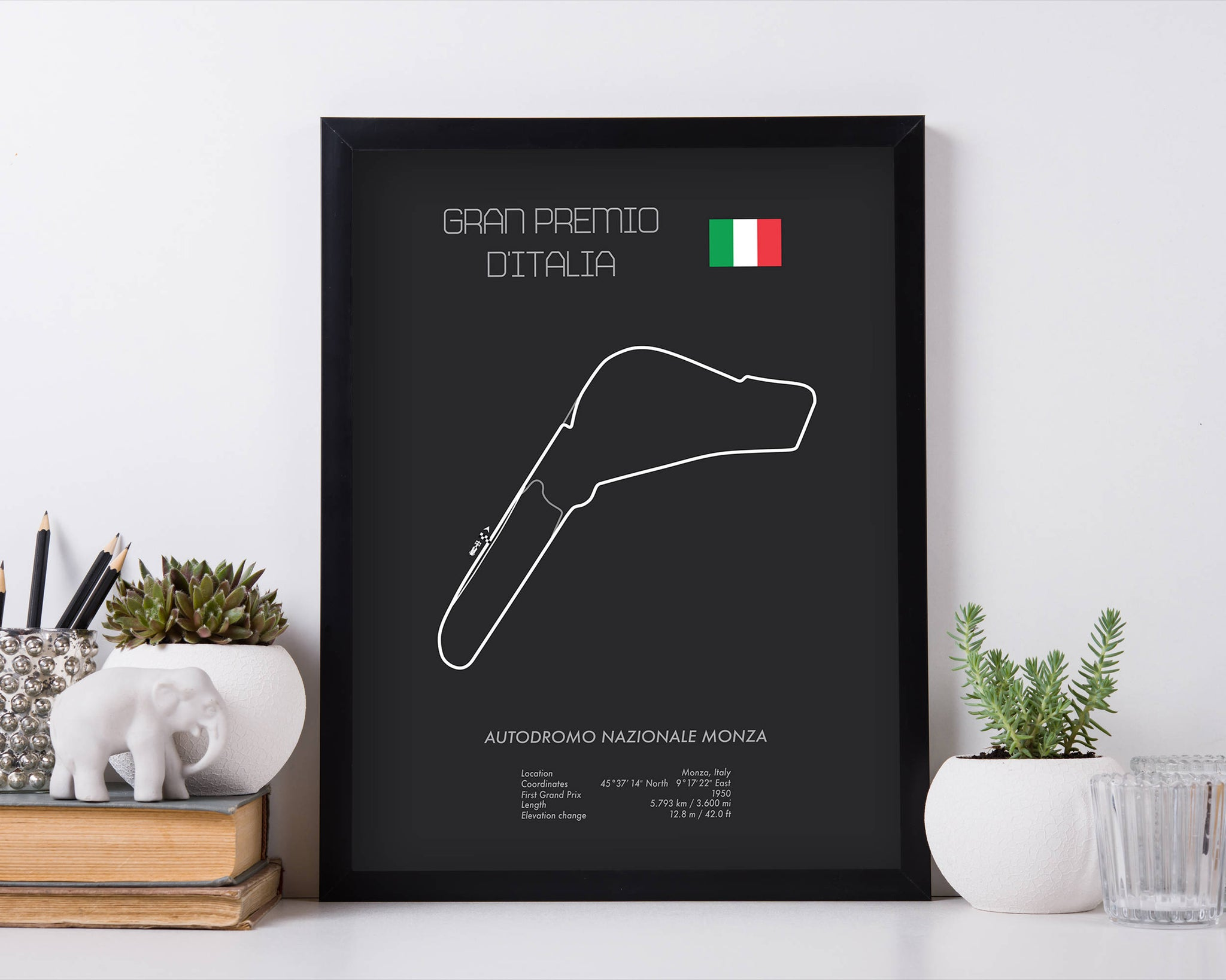 Italy Map Wall Art.Formula One Italy Grand Prix At Monza Racing Map Wall Art Print