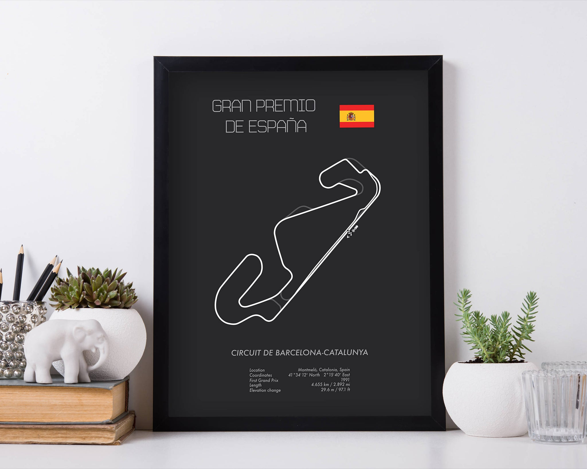 Formula One Spanish Grand Prix Barcelona Catalonia Racing Map Wall Art Print