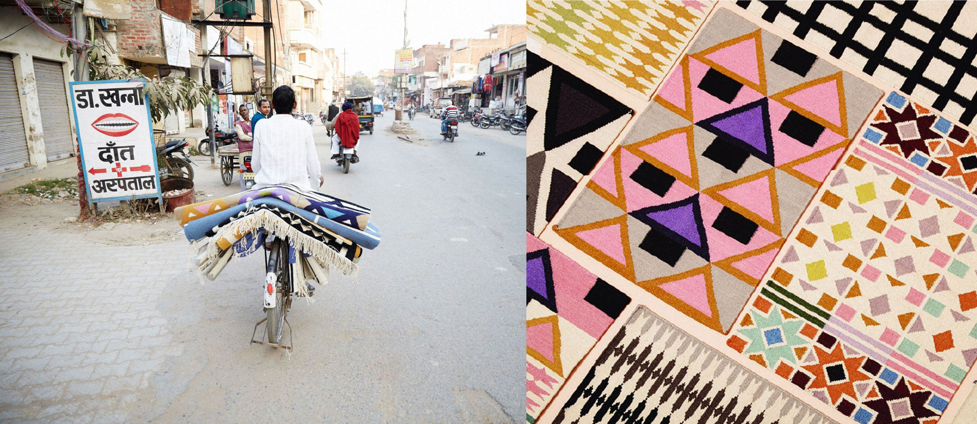 Aelfie handmade rugs in India