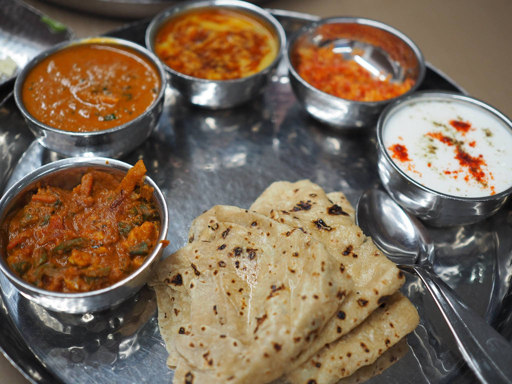 Indian food thali set