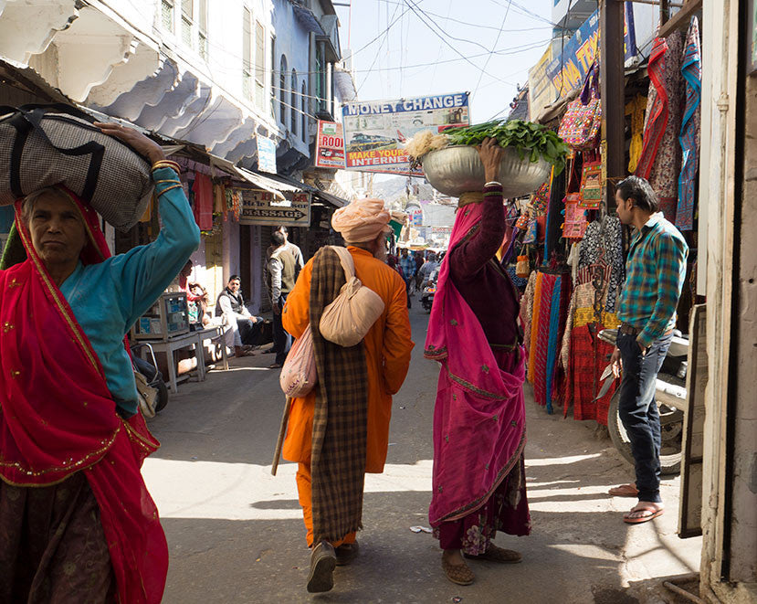 Pushkar Main Street Locals Shopping