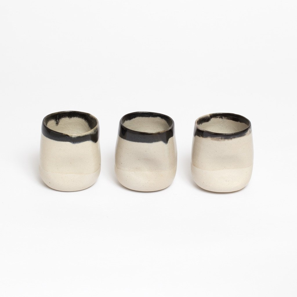 Ceramic Tumbler with Black Rim