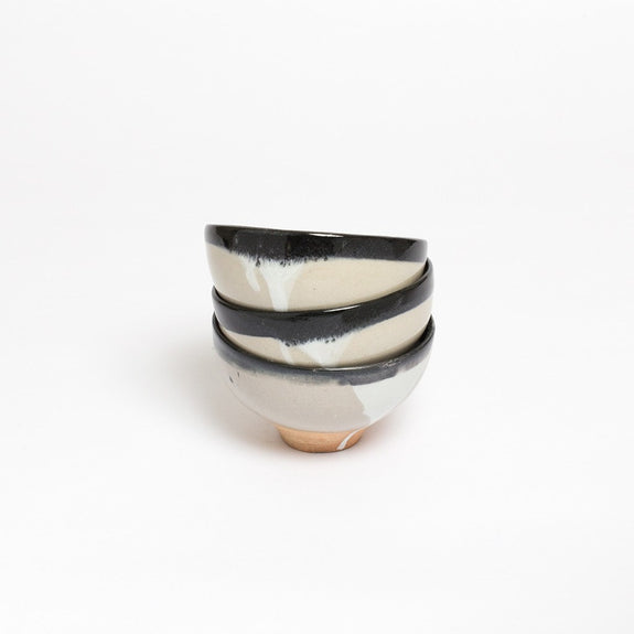 Claymen Ceramic Bowl with Dripping Glaze stack