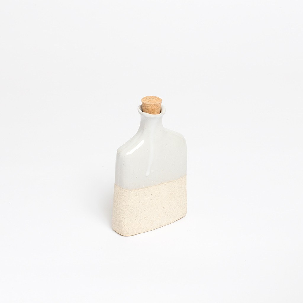 Claymen ceramic flask white