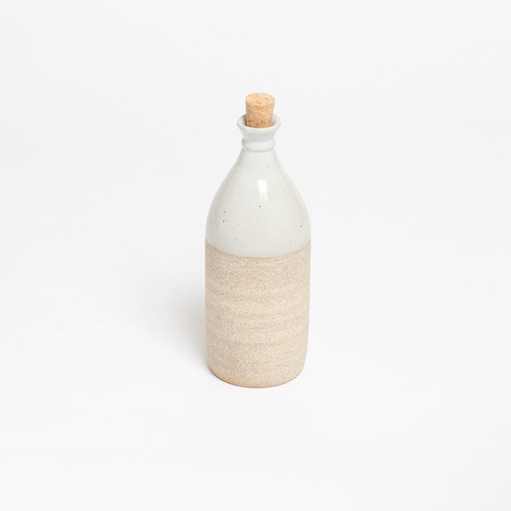 Claymen small groove necked bottle white