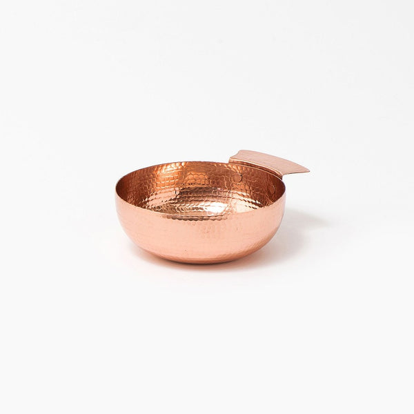 Hammered Copper serving bowl handmade by Coppre