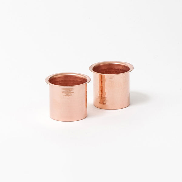 Hammered Copper Tumbler Set of 2