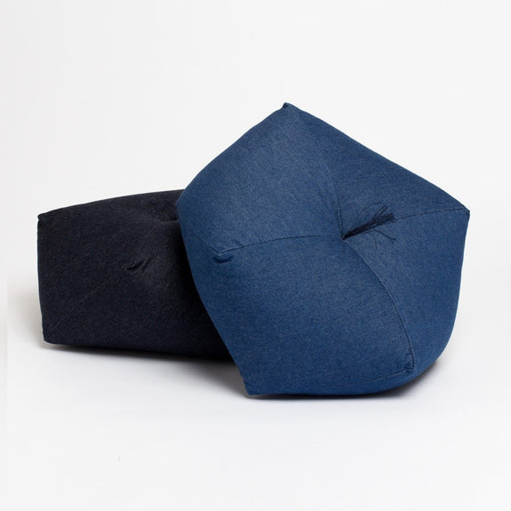 Japanese cushion denim medium wash and indigo